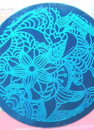 Диск hehe071 стемпинг пластины клише формы плитки узоры дизайн