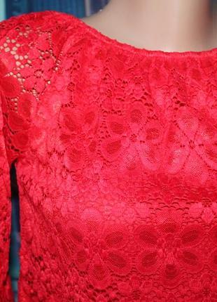 Блуза кружево актуальный рукав