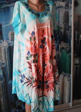 Платье лето пляж 16-18-20 размер