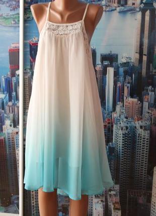 Нежное шифоновое платье s m