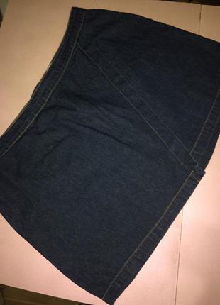 Джинсовая мини юбка большого размера 20 одежда большого размера