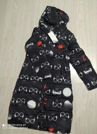 Женское демисезонное пальто - очки