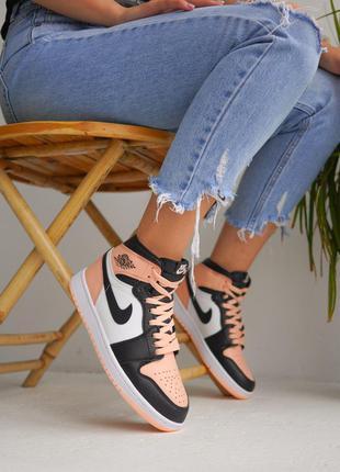 Кроссовки Nike Air Jordan White Black Pink