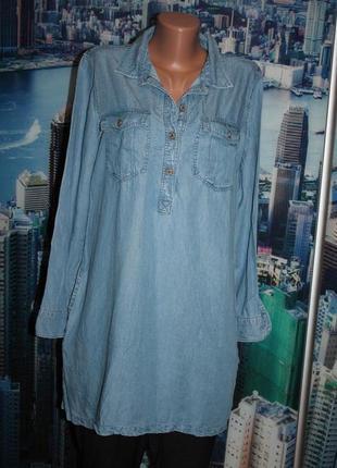 Платье туника тонкий джинс