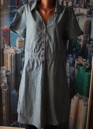 Платье 100 % котон тонкий джинс