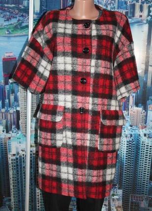 Автоледи тренч пальто кардиган шерсть 10-14 размер