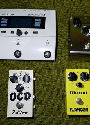 Процессор гитарный вокальный TC Helicon Voicelive GTX, педали
