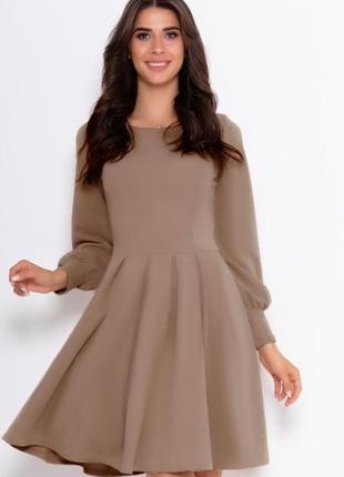 Классическое платье с длинными рукавами