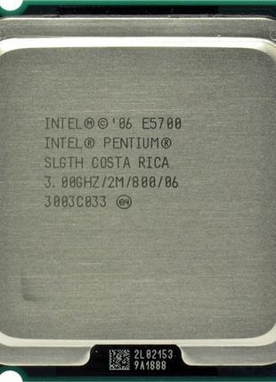 Процессор 2 ядра Intel Pentium Е5700 3,00 ГГц с кулером!