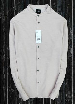 Мягкая рубашка с воротником стойка
