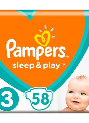 Подгузники Pampers Sleep & Play 3,4,5 без пропитки