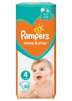 Подгузники Pampers Sleep & Play 3,4,5 с ромашкой