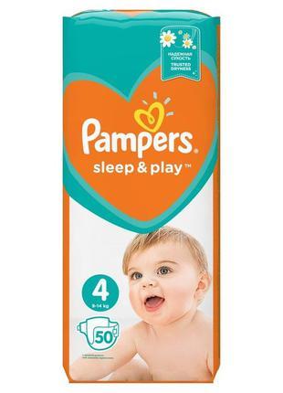 Подгузники Pampers Sleep & Play 3,4,5 с ромашкой