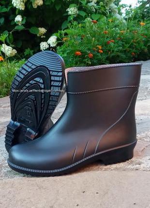 Женские резиновые сапоги черные ботинки 36-41 литма літма litma