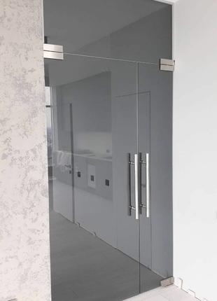 Двери из каленого стекла