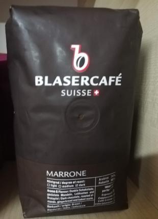 Швейцарский кофе в зернах Blasercafe. Marrone 250g