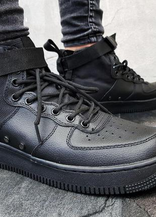 Nike SF Air Force 1 Mid (черные)