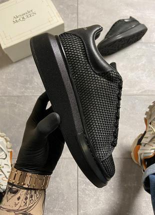 Кроссовки Alexander McQueen Black Grid