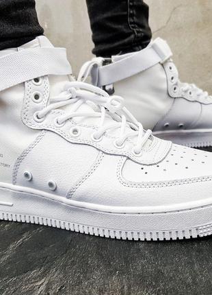 Nike SF Air Force 1 Mid (белые)