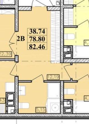Предлагается к продаже 2-комнатная квартира в тихом районе