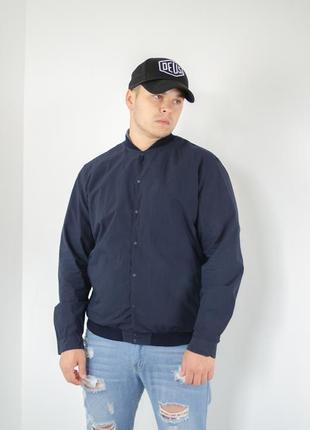 Cos темно-синий бомбер, ветровка, легкая куртка