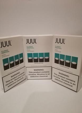 JUUL поды Classic Mentol 4 Pods 5% nicotine strength .Скидки.