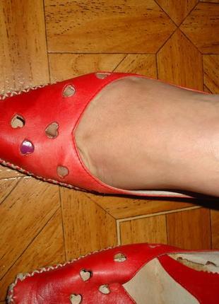Туфли лето кожа