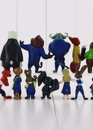 Игрушки Зверополис 12 шт, фигурки