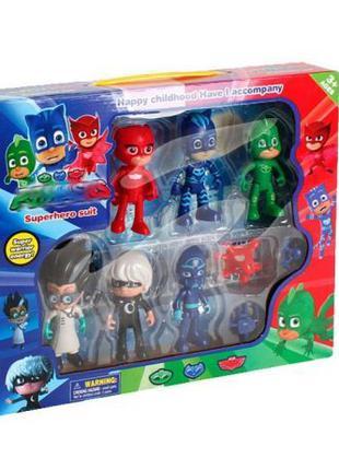 Герои в масках игрушки + подарочная коробка, 6 штук