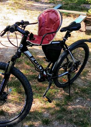 Велокресло детское на ровную раму, подножка, скоба переходник 2шт