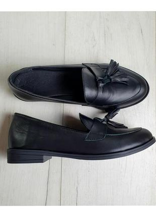 Туфли лоферы кожаные 1148