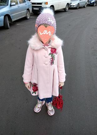 Крутое модное пальто на девочку осеннее демисезонное