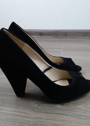 Распродажа туфли туфельки босоножки черные размер 36