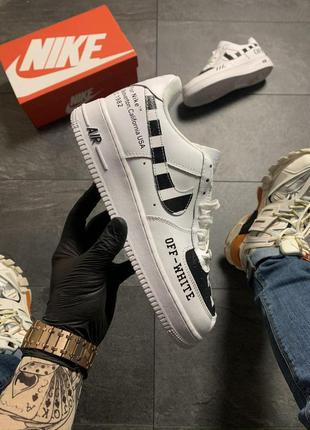 Кроссовки nike air force low off-white white