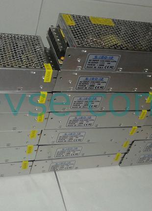 Блок питания адаптер 12V 15A 180W S-180-12 ДЛЯ СВЕТОДИОДНОЙ ленты
