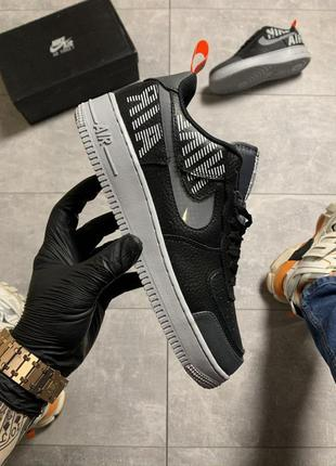 Мужские кроссовки air force low black white