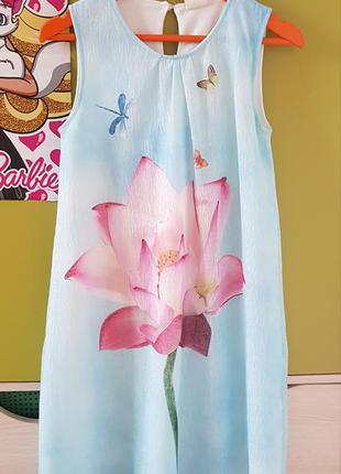 """🦋нарядное нежное небесно-голубое платье для девочки """"лотос""""🦋 #..."""