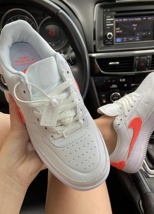 Кроссовки nike air force 1 low jester white orange