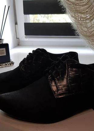 Туфли натуральная замша и кожа