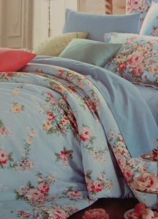 Сатиновое постельное белье полуторное ELWAY