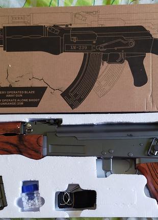 Игрушечный автомат Калашникова АК-47 XM-239 на аккумуляторе стрел