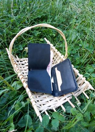 Кожаный кошелек трифолд портмоне бумажник ручная работа