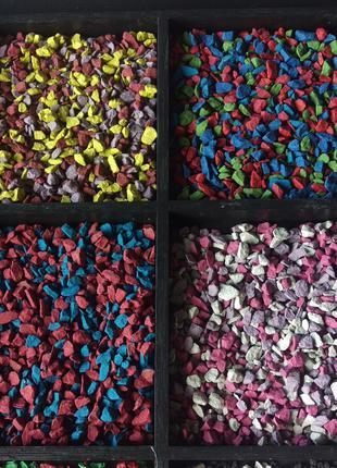 Цветной декоративный щебень гравий крошка микс