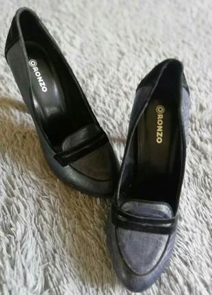 Туфли имитация кожи питона