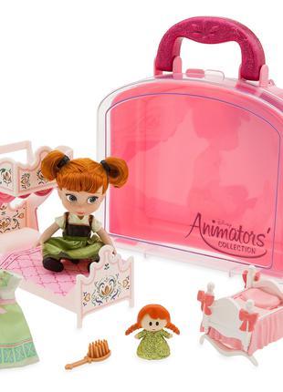 Игровой набор Кукла Анна мини с аксессуарами Frozen Disney Animat