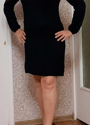 Стильное черное платье Wallis с кружевными вставками