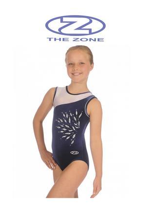 Купальник гимнастический Zhe Zone на 8-10 лет р.128-140