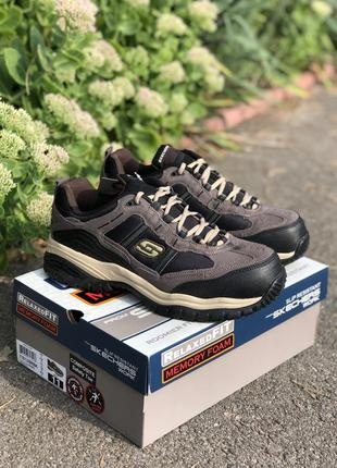 Новые мужские кроссовки, ботинки с железным носком skechers ор...