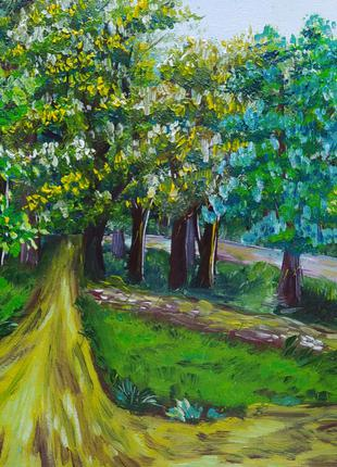 """Картина олією""""Початок дощу """" чи """"Вулиці Білої Церкви"""", 2020рік"""