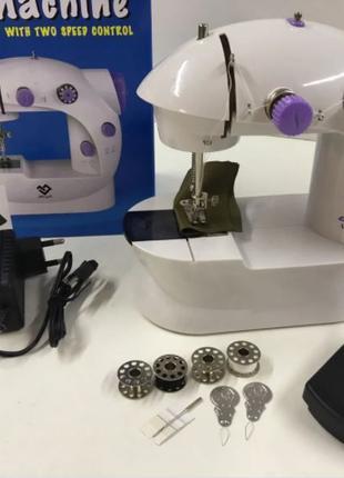 Портативная мини Швейная машинка sewing machine на батарейках+...